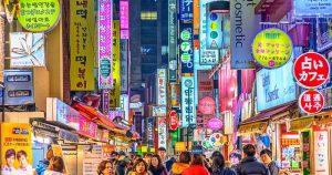 Paket Tour Wisata Liburan Asia Korea Jeju 6D Lebaran 2020 Murah - AmwindoTourCom - Myeongdong Street